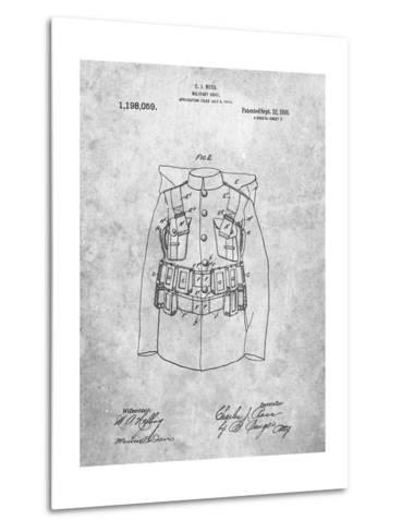 Military Coat Patent-Cole Borders-Metal Print