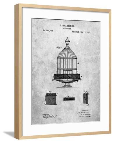 Vintage Birdcage Patent-Cole Borders-Framed Art Print