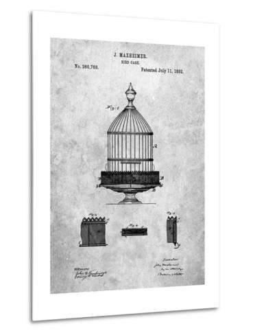 Vintage Birdcage Patent-Cole Borders-Metal Print