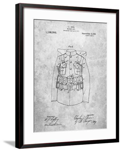 Military Coat Patent-Cole Borders-Framed Art Print