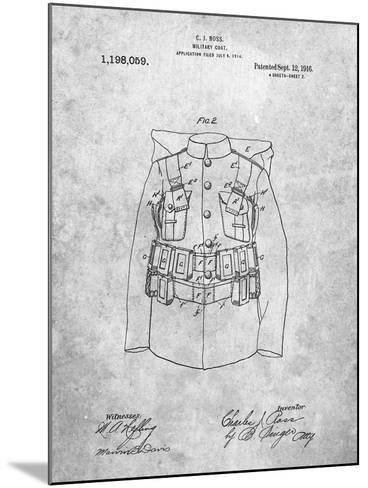 Military Coat Patent-Cole Borders-Mounted Art Print