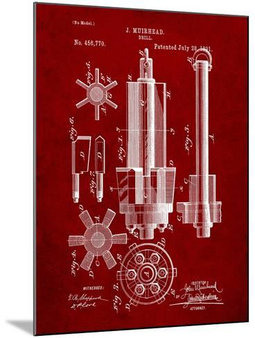 Drill Tool Patent-Cole Borders-Mounted Art Print