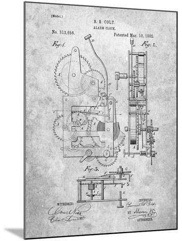 Vintage Alarm Clock Patent 1885-Cole Borders-Mounted Art Print