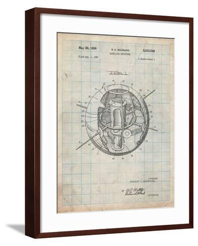 Space Station Satellite Patent-Cole Borders-Framed Art Print