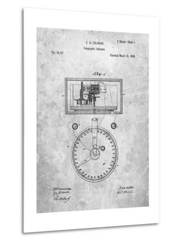 Stock Ticker Patent-Cole Borders-Metal Print