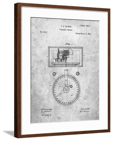 Stock Ticker Patent-Cole Borders-Framed Art Print