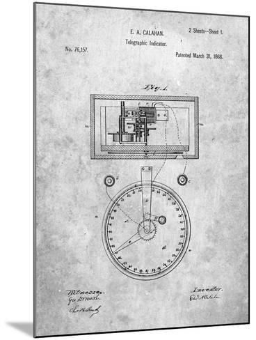Stock Ticker Patent-Cole Borders-Mounted Art Print