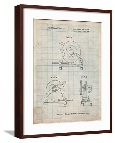 Chop Saw Patent-Cole Borders-Framed Art Print