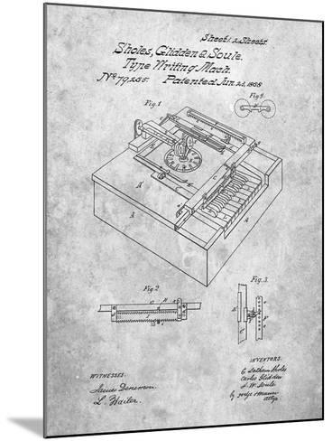 Type Writing Machine Patent-Cole Borders-Mounted Art Print