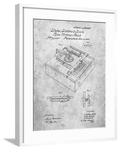 Type Writing Machine Patent-Cole Borders-Framed Art Print