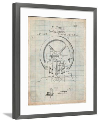 Sewing Machine Patent 1846-Cole Borders-Framed Art Print