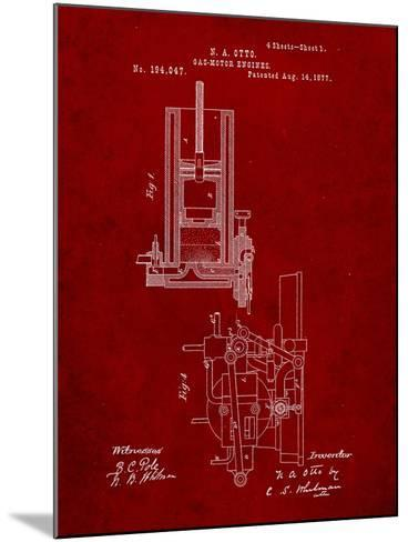 Combustion Engine Patent 1877-Cole Borders-Mounted Art Print