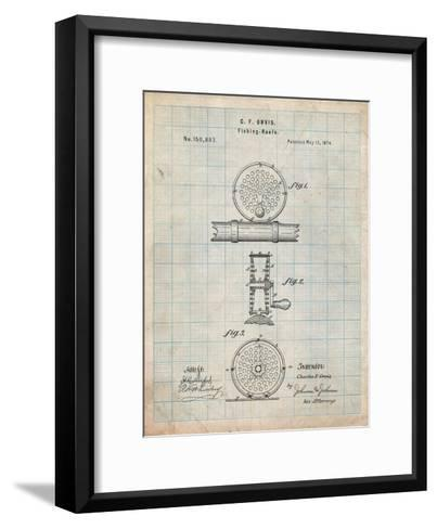 Fishing Reel Patent-Cole Borders-Framed Art Print