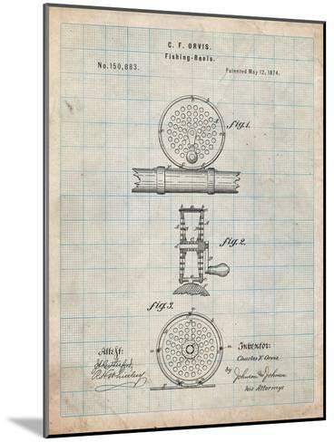 Fishing Reel Patent-Cole Borders-Mounted Art Print