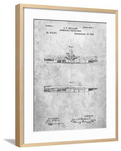 Submarine Vessel Patent-Cole Borders-Framed Art Print