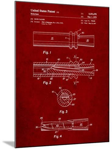 Duck Commander Duck Call Patent, Phil Robertson, Inventor-Cole Borders-Mounted Art Print