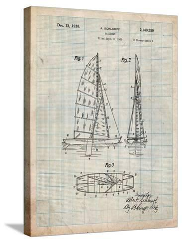 Sailboat Patent-Cole Borders-Stretched Canvas Print