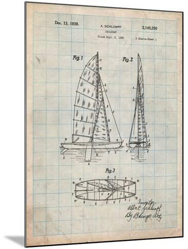 Sailboat Patent-Cole Borders-Mounted Art Print