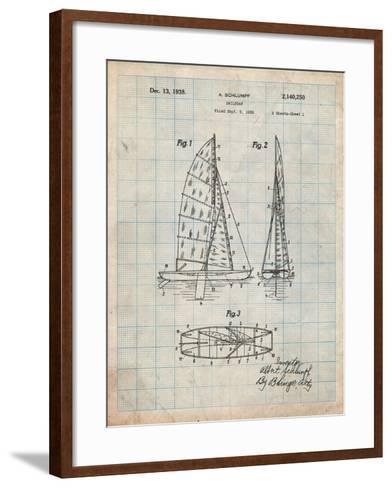 Sailboat Patent-Cole Borders-Framed Art Print