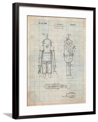 Deep Sea Diving Suit Patent-Cole Borders-Framed Art Print