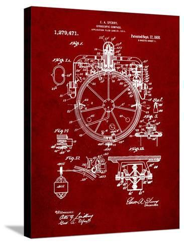 Compass Patent 1918-Cole Borders-Stretched Canvas Print