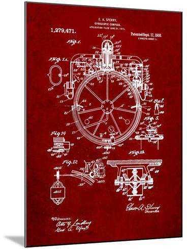 Compass Patent 1918-Cole Borders-Mounted Art Print
