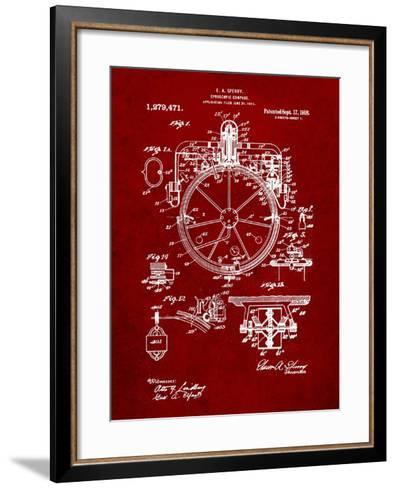 Compass Patent 1918-Cole Borders-Framed Art Print