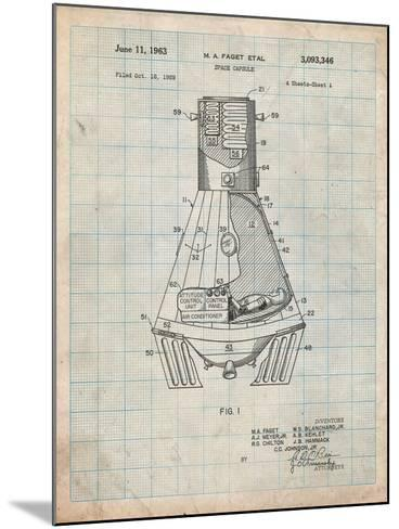 Space Capsule, Space Shuttle Patent-Cole Borders-Mounted Art Print