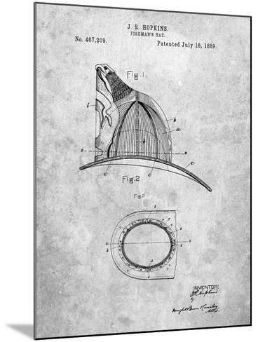 Vintage Fireman's Helmet 1889-Cole Borders-Mounted Art Print