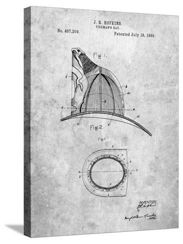 Vintage Fireman's Helmet 1889-Cole Borders-Stretched Canvas Print