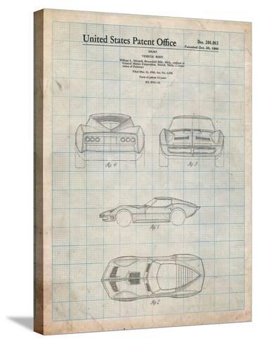 1966 Corvette Mako Shark II Patent-Cole Borders-Stretched Canvas Print