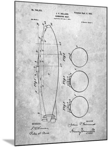 Submarine Boat Patent-Cole Borders-Mounted Art Print