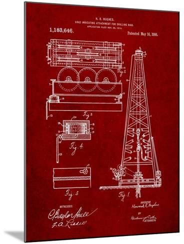 Drilling Rig Patent-Cole Borders-Mounted Art Print