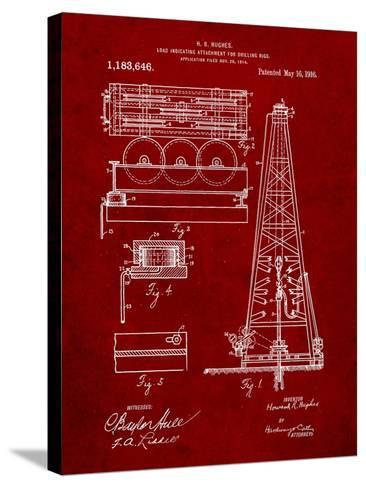 Drilling Rig Patent-Cole Borders-Stretched Canvas Print
