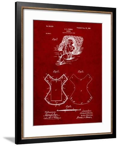 Baby Diaper Patent-Cole Borders-Framed Art Print