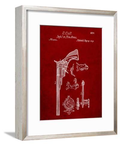Colt Firearm Patent 1839-Cole Borders-Framed Art Print