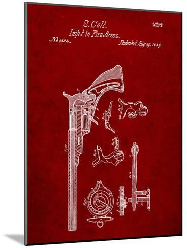 Colt Firearm Patent 1839-Cole Borders-Mounted Art Print