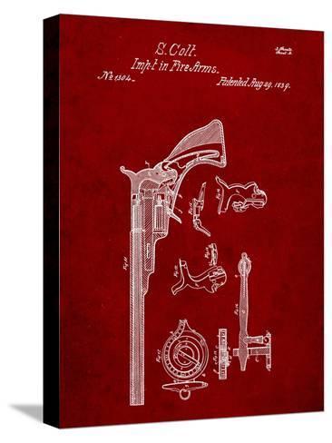 Colt Firearm Patent 1839-Cole Borders-Stretched Canvas Print