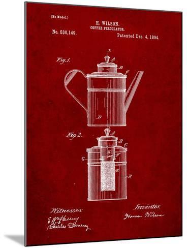 Coffee Percolator Patent-Cole Borders-Mounted Art Print