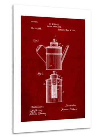 Coffee Percolator Patent-Cole Borders-Metal Print