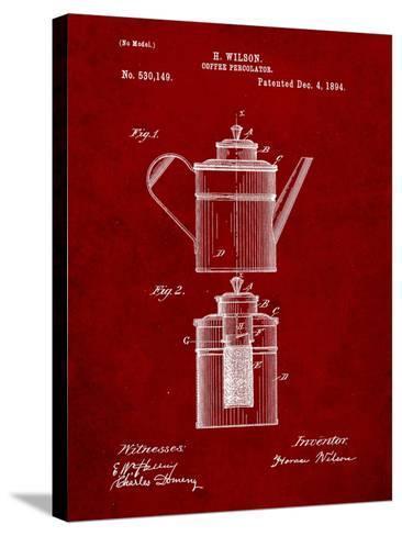 Coffee Percolator Patent-Cole Borders-Stretched Canvas Print