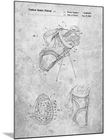 Golf Walking Bag Patent-Cole Borders-Mounted Art Print