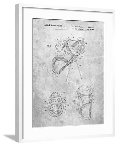 Golf Walking Bag Patent-Cole Borders-Framed Art Print