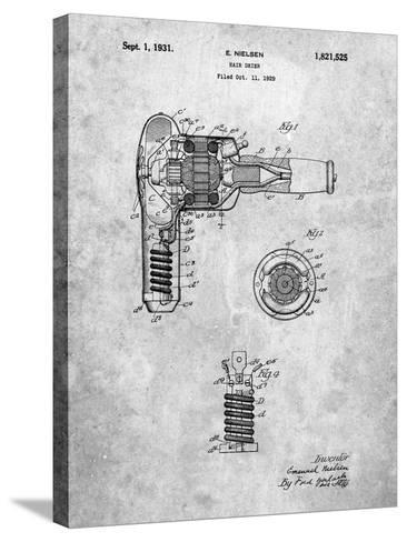 Vintage Hair Dryer Patent-Cole Borders-Stretched Canvas Print
