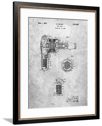 Vintage Hair Dryer Patent-Cole Borders-Framed Art Print