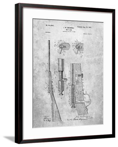 Browning Bolt Gun Patent-Cole Borders-Framed Art Print