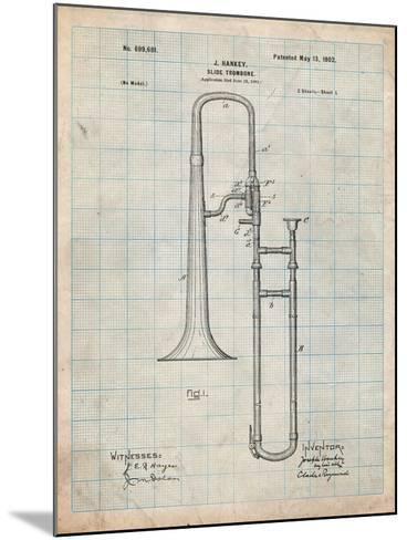 Slide Trombone Instrument Patent-Cole Borders-Mounted Art Print