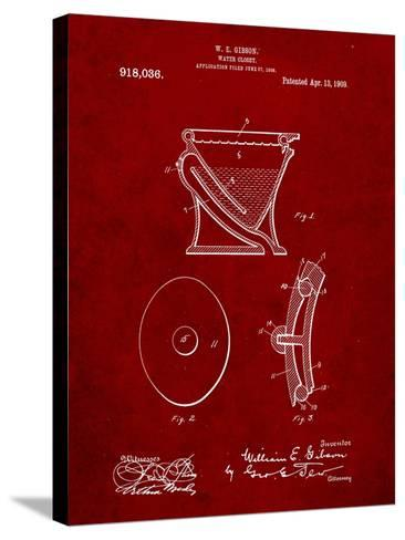Water Closet Patent-Cole Borders-Stretched Canvas Print