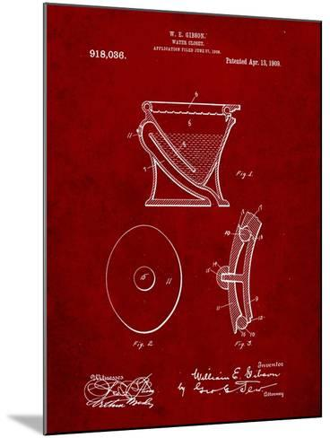 Water Closet Patent-Cole Borders-Mounted Art Print