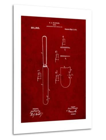 Dinner Knife Patent-Cole Borders-Metal Print